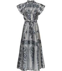 karookh long dress aop 11244 maxi dress galajurk grijs samsøe samsøe