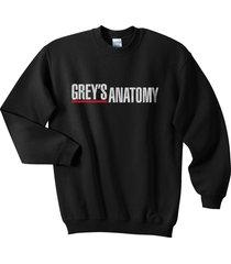 grey's anatomy crewneck sweatshirt black