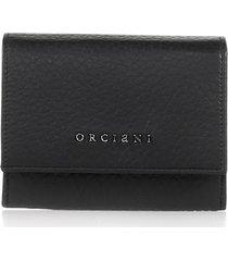 orciani black envelope wallet with logo