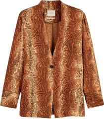 pyjama blazer in prints combo
