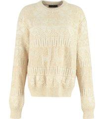 alanui land of alpacas jacquard sweater