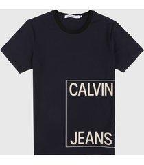 camiseta azul navy-blanco calvin klein