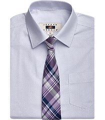 joseph abboud boys purple floral dress shirt & tie set