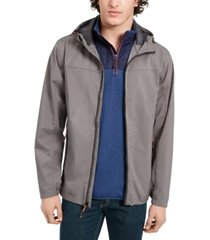hawke & co. men's all-season lightweight hooded rain jacket