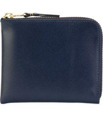 comme des garçons wallet classic zip wallet - blue