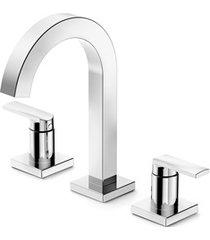 misturador para lavatório de mesa com 3 furos e válvula bica alta select