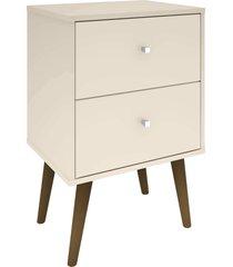 mesa de cabeceira mb2015 c/ 2 gavetas off-white móveis bechara