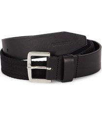 diesel men's b-bosco leather belt - black - size 85 (34)