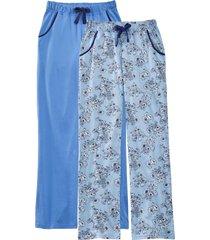 pantaloni pigiama (pacco da 2) (blu) - bpc bonprix collection