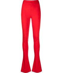 the attico cherry-red trousers