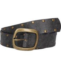 cinturón cuero con perforador negro panama jack