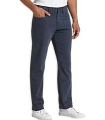 joseph abboud navy slim fit sateen twill casual pants