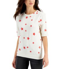 style & co lightweight french terry sweatshirt, created for macy's
