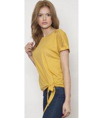 blusa bordada manga corta amarilla 609 seisceronueve