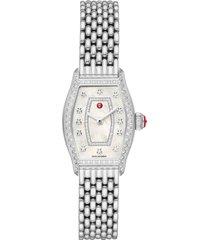 women's michele diamond watch head & bracelet, 23mm