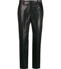 ermanno scervino faux leather trousers - black