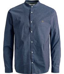 jack & jones overhemd 12167089 navy r - blauw