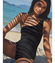 icon seville non wired one shoulder shaping one-piece swimsuit