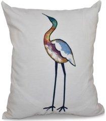bird fashion 16 inch white and off white decorative coastal throw pillow