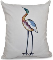 bird fashion 16 inch white and off white decorative coastal throw pillow