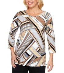 alfred dunner classics printed top