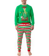 matching men's the grinch two piece pajamas, online only