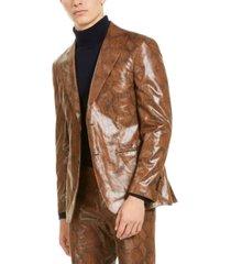 tallia men's brown snakeskin sport coat