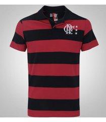 camisa polo do flamengo control - masculina - preto/vermelho