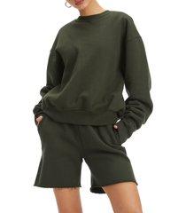 plus size women's good american boyfriend pullover sweatshirt
