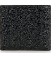 thom browne men's billfold wallet in pebble grain - black