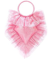 the vampire's wife ruffled tulle shoulder bag - pink