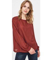 blusa marrón vero moda