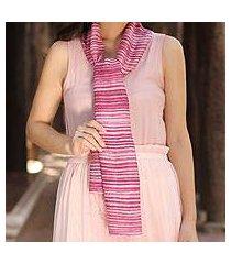 silk batik scarf, 'mae nam khong roses' (thailand)