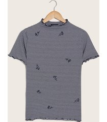 camiseta cerezas azul xl