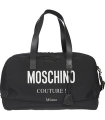 moschino couture top zip duffle bag