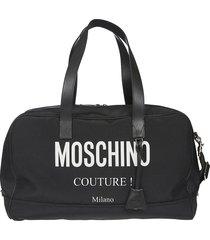 moschino couture top zip duffle bag