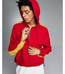allen onyia men's red alert quarter-zip hoodie, created for macy's