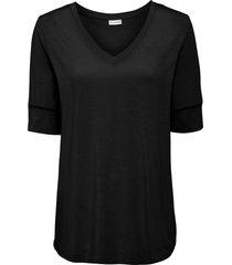 bellissima maglia con scollo a v in tencel™ lyocell. (nero) - bodyflirt