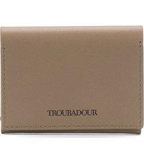 troubadour logo card holder - grey