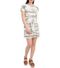 vince camuto tie dye t-shirt dress, size xx-small in grey at nordstrom
