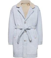 reversible sherpa coat reverse dunne lange jas blauw levi´s women