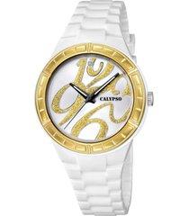 reloj digital crush blanco calypso
