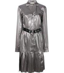 1017 alyx 9sm pleated shirt dress - metallic