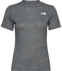 w at novelty s/s t-shirts & tops short-sleeved grå the north face