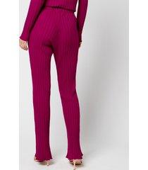simon miller women's cyrene trousers - magenta - l