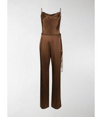 nanushka juniper tie-waist jumpsuit