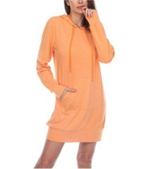 white mark women's hoodie sweatshirt dress