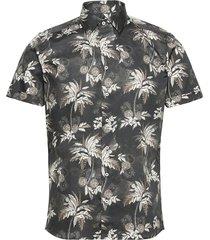 8832 - iver 2 soft st overhemd met korte mouwen zwart sand