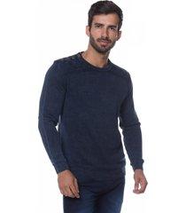 suéter side-open le tisserand stone azul