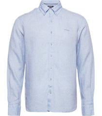 anthony linen shirt b.d skjorta casual blå sebago